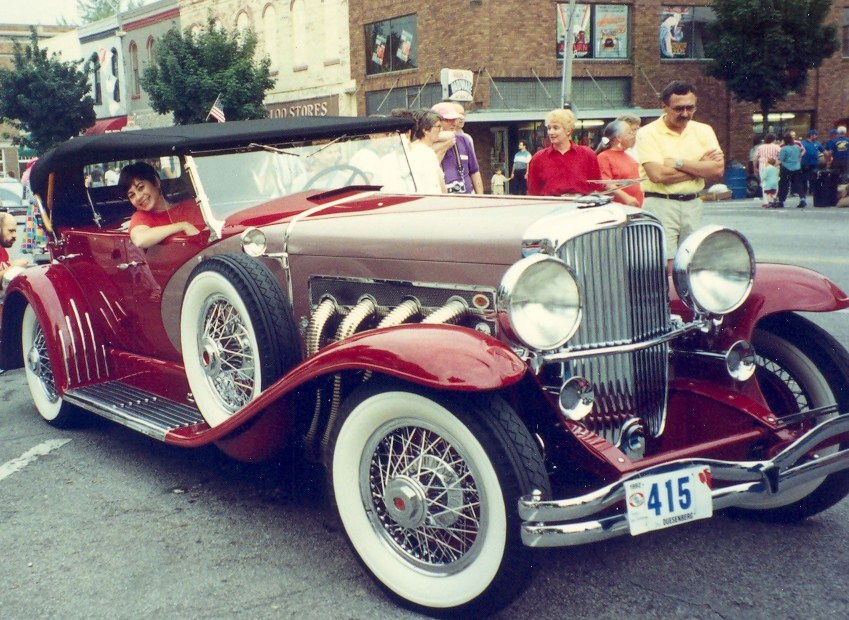 Poor me  in a Duesenberg doing research in Auburn, Indiana.